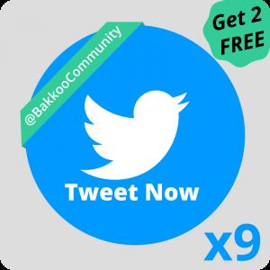 Send nine tweets with Bakkoo Kickstarter Club