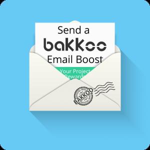 Email boost to the Bakkoo Kickstarter Club