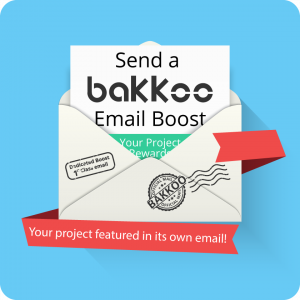 Dedicated email boost to the Bakkoo Kickstarter Club