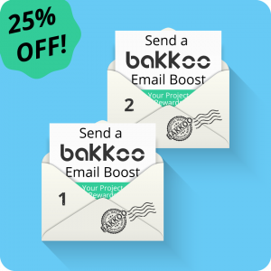 Two email boosts to the Bakkoo Kickstarter Club